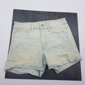 American Eagle Distressed High Rise Shortie